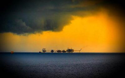 Weak tropical storm expected to cross Gulf of Mexico offshore oil and gas blocks.